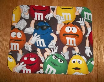 Mouse Pads, Peanut M and M, Computer Mouse Pad, Desk Accessory, Office Decor, Handmade, Gift, MousePad, Rectangle, Mouse Mat, Mouse Pad, Mat