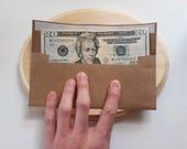 "HANDmade Envelopes - ECO White Paper - Slim Ticket / Invitation Envelopes : Pack-of-30 // 3"" x 7.5"" Self-Adhesive."