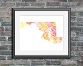 Maryland watercolor typog...