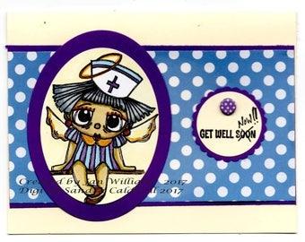 1895 Candy Stripe Angel Digi Stamp