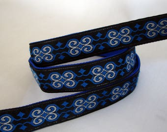 Dog Collar and Leash - Leash and Collar Set  - Collar and Leash Set - 1 Inch Wide - Blue & Black - Black Lab - Male - Boy - READY TO SHIP