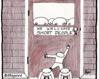 We Welcome Short People CARTOON