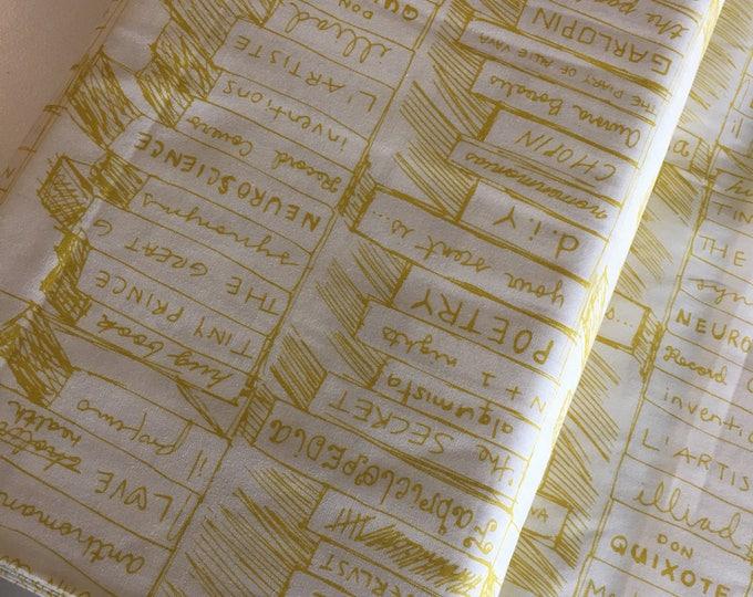 SALE Fabric, Book  fabric, Yellow fabric, Art Gallery Fabrics, Choose Your Cut