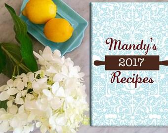 recipe journal, recipes, personalized recipe book