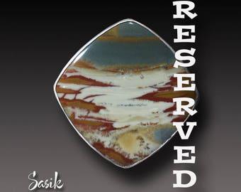 RESERVED Owyhee Landscape Jasper Ring Sterling Silver handmadet Ring