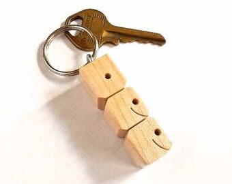 DEE - Sample Name Keychain in Maple Wood