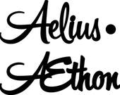 """CUSTOM Aelius and dot sign 20"""" wide"""