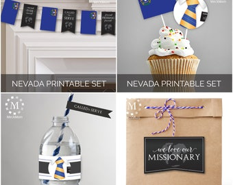 INSTANT DOWNLOAD - Nevada -  Missionary Farewell Welcome Home Decoration Printable Set for Elders
