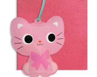 Inflatable Cat Card