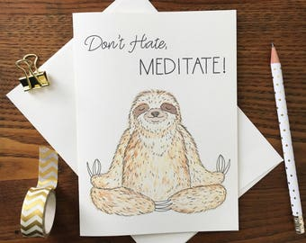 Image result for meditating funny sloth