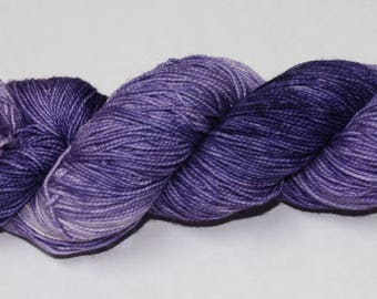 Ready to Ship - Night Shade Hand Dyed Sock Yarn - Superwash Worsted