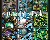 Tutorial 3 Pack Special, Inchies, Tidepool Suncatcher and Jewel Encrusted Pendants,  3 PDF Tutorials, Bundle Price