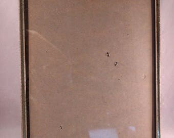 Vintage Gold Metal 11 x 14 Picture Frame with Glass and Stand