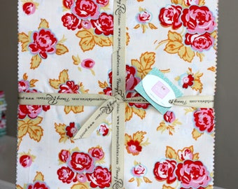 "SALE 10"" inch squares MILK, SUGaR & FLOWER layer cake Stacker fabric by Riley Blake"