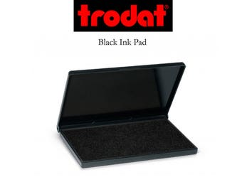 Ink Pad By Trodat - Black Ink - For Use With Wood Handle Stamps - 2 Sizes Available - Ships in 1-2 Business Days (I416)