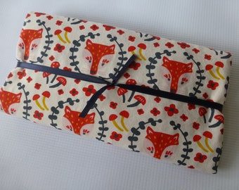 Security Blanket or Doll Blanket - Foxy in Cream