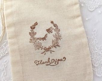 Bee Favor Bags, Bridal Shower Bee Bags, Wedding Bee Favor Bags, Set of 10