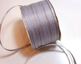 Metallic Silver Ribbon, Offray Metallic Silver Grosgrain Ribbon 1/8 inch wide x 10 yards