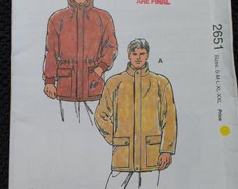 Kwik Sew Mens Jacket Pattern 2651