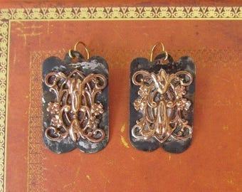 Summer SALE 1 Renaissance Artisan earings, mixed metal steampunk
