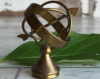 Vintage Brass Armillary - Holland Delft Miniature