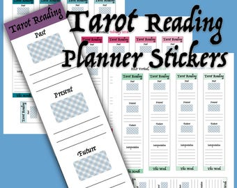First Quarter 2018, January - March, Weekly Tarot Reading Printable Planner Stickers