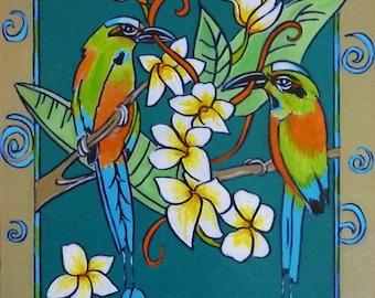 Wall Art - Art Print - The Motmot - Nicaragua Art - Leah Reynolds