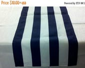 "ON SALE STRIPED Table Runner Colors, 11"" wide runners,  or Napkins,  Placemats, black, red, fuchsia, grey, yellow, lime, Runners, Nautical,"