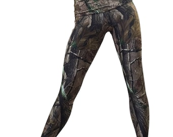 SALE m/l - Camo Pants Camouflage Yoga Fitness Legging Fold Over Low/High Rise SXYfitness