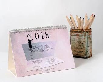 2018 Calendar, Calendar 2018, Fun calendar, photography, Desk Calendar, original calendar, French Wall Decor, French Calendar, New Year