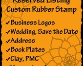 Custom Rubber Stamp - business logos, art stamps, address stamps, wedding stamps- RESERVED for Andrea