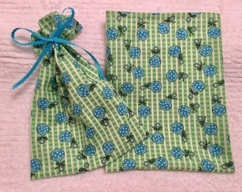Fabric Pouch, Gift Bags, Gift Wrap, Goody Supply Bag, Treat Bag, Guest Favor, Baby Shower, BFF Gifts, Pack of 6, Baby Theme Fabric Pouches