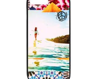 NEW iPhone 8/8+ Case, BLOOM Lauren Hill, Best Seller, Female Surfer, Beach, Surf, Surf Art, Ocean, Art, black case color, Apple iPhone