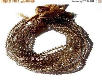 50% Off Sale AAA Mystic Brown Quartz faceted rondelles 3mm 14 inches