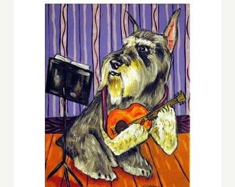 Dog Playing Guitar Etsy