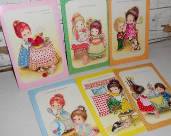 Vintage Lillian Ruth Greeting Cards, Vintage Happy Birthday Cards, Greeting Cards