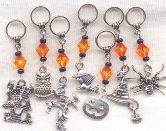 Halloween Knitting Stitch Markers Deluxe Set Haunted House Spooks Set of 7/SM80F