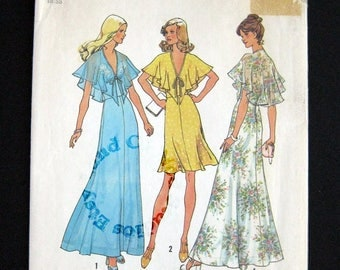1975 Simplicity pattern 6898 halter dress in two lengths size 10 bust 32.5