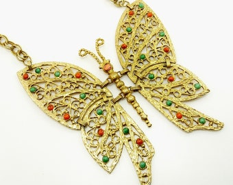 Juliana DEC Butterfly Pendant Necklace Massive Articulated Delizza Elster