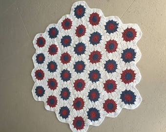 Crochet Hexagon Rug Etsy