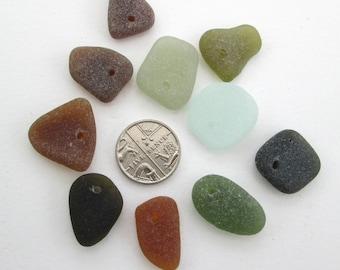 English sea glass beads, Drilled sea glass, drilled beach glass, beach glass beads, genuine sea glass, pendant supplies, eco art supplies,
