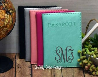 Passport Cover Faux Leather Bridal Party Girls Trip Gift Travel Accessory