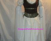 DDNJ LOTR Eowyn Shield Maiden Inspired Reversible 3pc Corset Style Bodice Plus Custom Made Any Size Renaissance Pirate Wedding Costume LARP