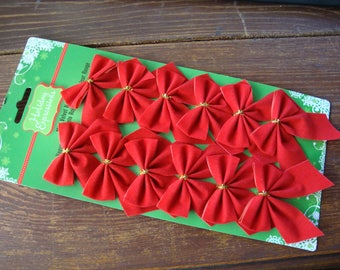 Red velvet bows embellishments party christmas gift wrap mini package ties craft supplies party favors christmas gift red wrapping supplies