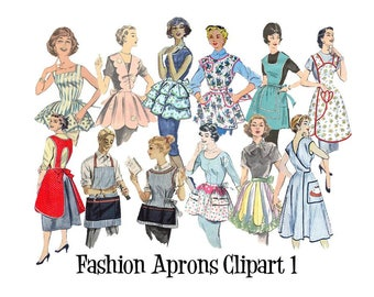 Clip Art 50's 60's Sewing Pattern Vintage Fashion