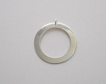 Sterling Silver Washer / Ring Stamping Pendant - T3 - P11