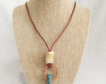 Mixed media necklace