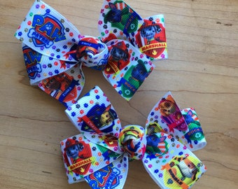Paw Patrol Hair Bow, Paw Patrol, Paw Patrol Party, Paw Patrol Birthday, Paw Patrol Party Favor, Paw Patrol Loot bags