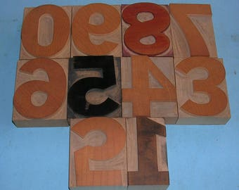 Pick Your Number Antique Vintage Letterpress Numbers Wood Numbers Wooden Numbers Vintage