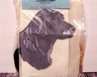 """NeedlePoint From Creative Critters Complete Kit """"Black Labrador Retriever"""""""